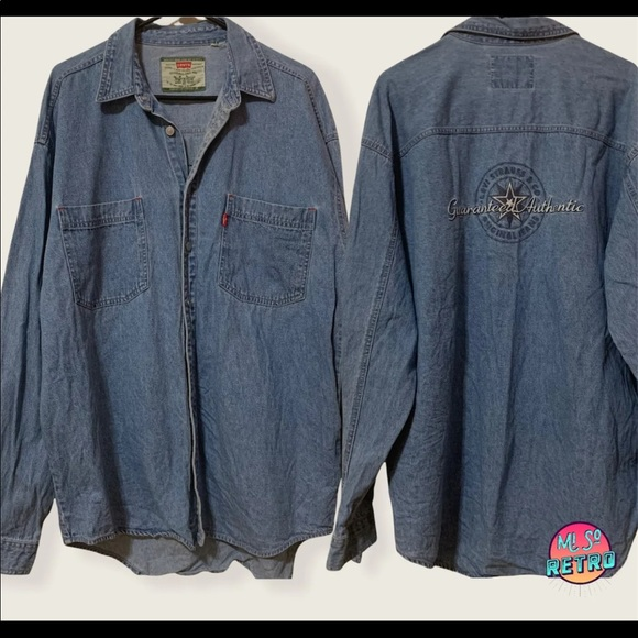 Vtg Levi Long Sleeve Jean Shirt